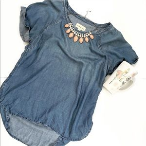 Cloth & Stone Chambray Short Sleeved Anthropologie